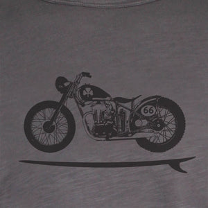 Ladies Bike Board Tee - Grey