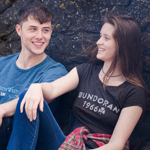 Ladies Bundoran Tee Black - Only Large & 1 XXL left!