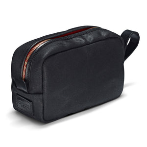 Vintage Waxed Canvas Wash Bag - Black