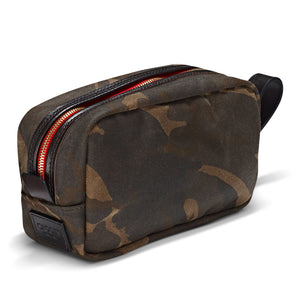 Vintage Waxed Canvas Wash Bag - Camo