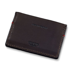 Vintage Leather Credit Card Holder Dark Brown