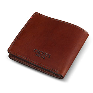 Vintage Leather Folding Wallet Port