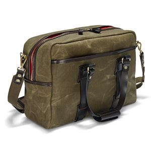Vintage Waxed Canvas Traveller bag - Olive