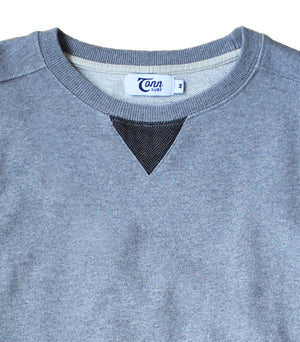 Mens Grey Marl Crewneck Sweatshirt