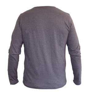 Long Sleeve Organic Cotton Tee Grey