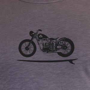 Long Sleeve Organic Cotton Tee Grey Bike Board