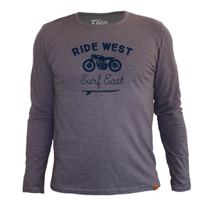 Long Sleeve Ride West Grey
