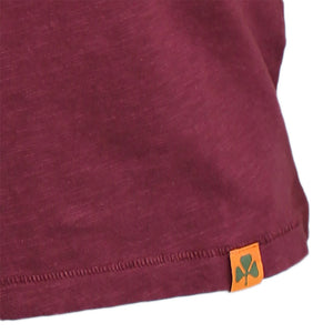 Long Sleeve Organic Cotton Tee Wine Bike Board