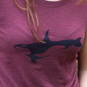 Ladies Orca Tee Wine