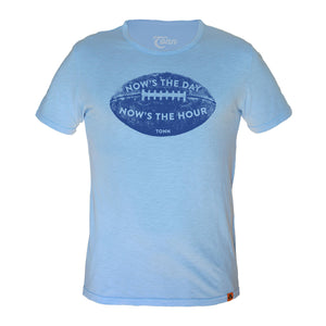 Now's the Day Rugby Crew Neck Tee Light Blue.  Only XS & 4XL left!