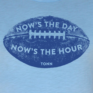 Now's the Day Rugby Crew Neck Tee Light Blue