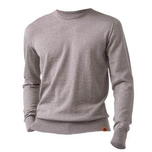 Round Neck 100% Merino Wool Sweater - Oatmeal