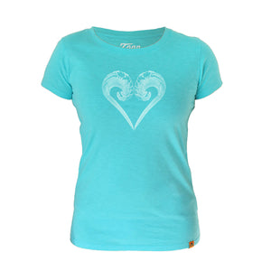 Ladies Ocean Lovers Turquoise - Charity Tee.