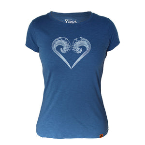 Ladies Ocean Lovers Dark Blue - Charity Tee.