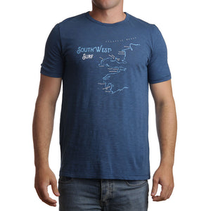 South West Surf Tee Blue