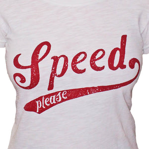 Ladies Speed Tee White