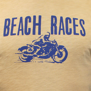 Beach Races Tee Sand Yellow.  - Last Season Colour Deal