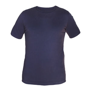 Tonic Carbon Wash Navy Tee - tighter neck
