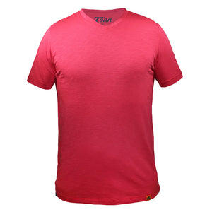 Basic Raspberry V-Neck Tee