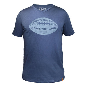 Now's the Day Rugby V-Neck Tee Navy