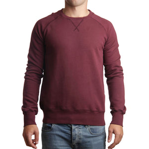 Mens Achill Island Organic Cotton Sweatshirt Wine