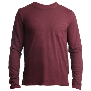 Long Sleeve Competitor Tee Wine