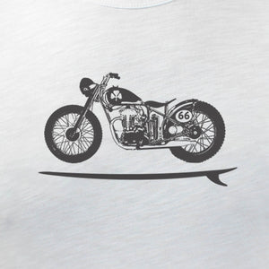 Bike Board Tee - White