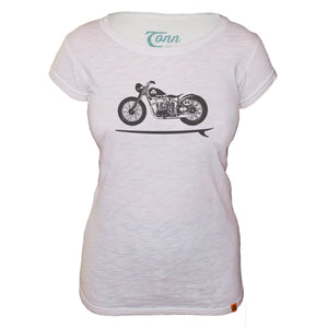 Ladies Bike Board Tee - White