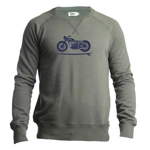 Mens Biker Surf Organic Cotton Sweatshirt
