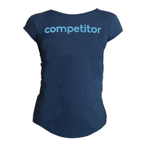 Ladies Competitor Tee Navy - Petite Fit.