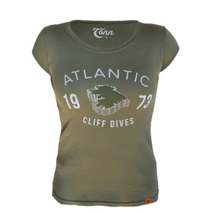 Ladies Cliff Dives Tee - Green