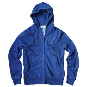 Mens Indigo Hooded Sweatshirt