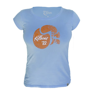 Ladies Kilbane Tee - Petite Fit - Light Blue.
