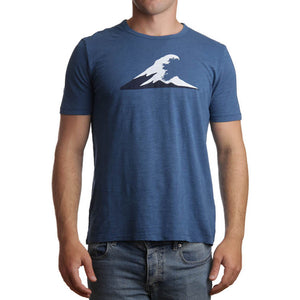 Irish Coast Wave Tee Dark Blue