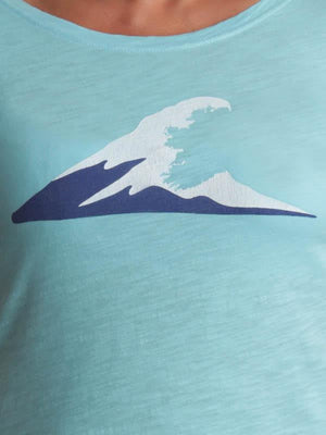 Ladies Irish Coast Wave Tee Turquoise - Petite Fit - XS & 1 S left