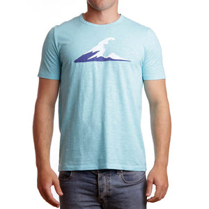 Irish Coast Wave Tee Turquoise