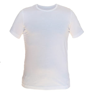 Tonic Carbon Wash White Tee - tighter neck