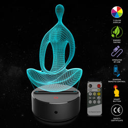 Yoga 3D LED 7 Color Lamp