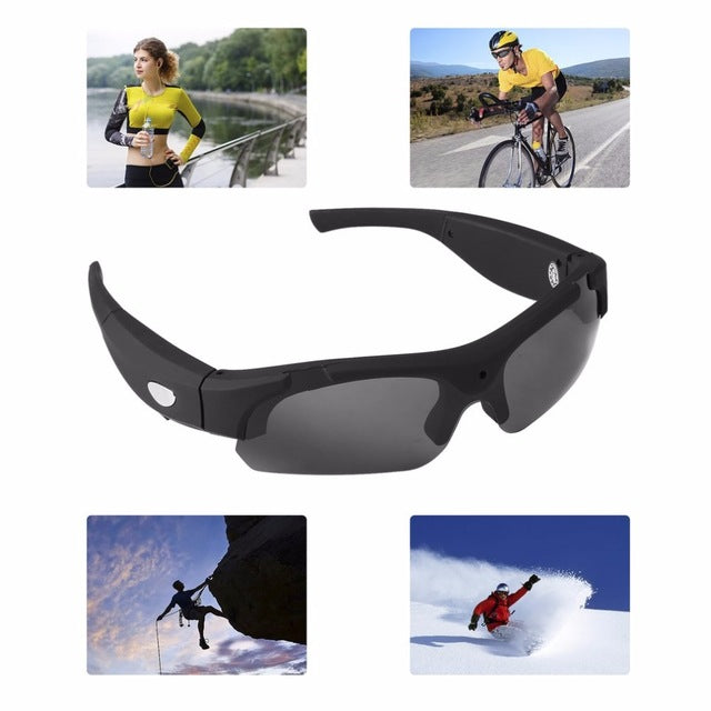 HD Camera Interchangeable Polarized-lenses Sunglasses