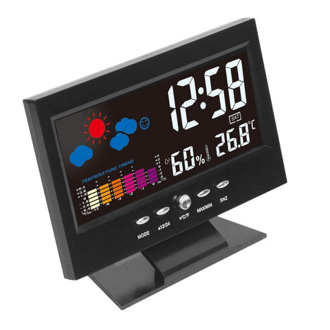 Indoor LCD Weather Monitor Clock