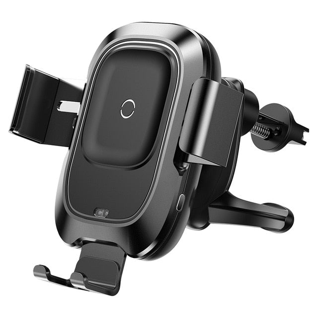 Baseus Intelligent Sensor Car Phone Holder for iPhone XR XS X Fast QI Wireless Charger Air Vent Mount Mobile Phone Holder Stand