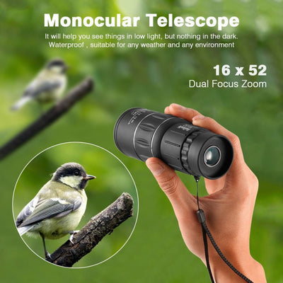 Dual Focus Monocular Spotting HD Telescope