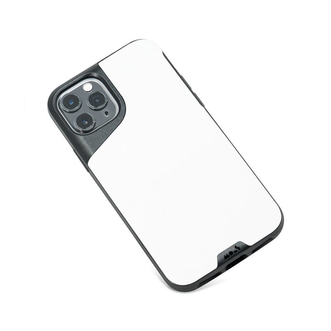 White Leather Slim iPhone 11 Pro Case
