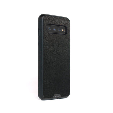 Black Leather Indestructible Samsung S10 Case