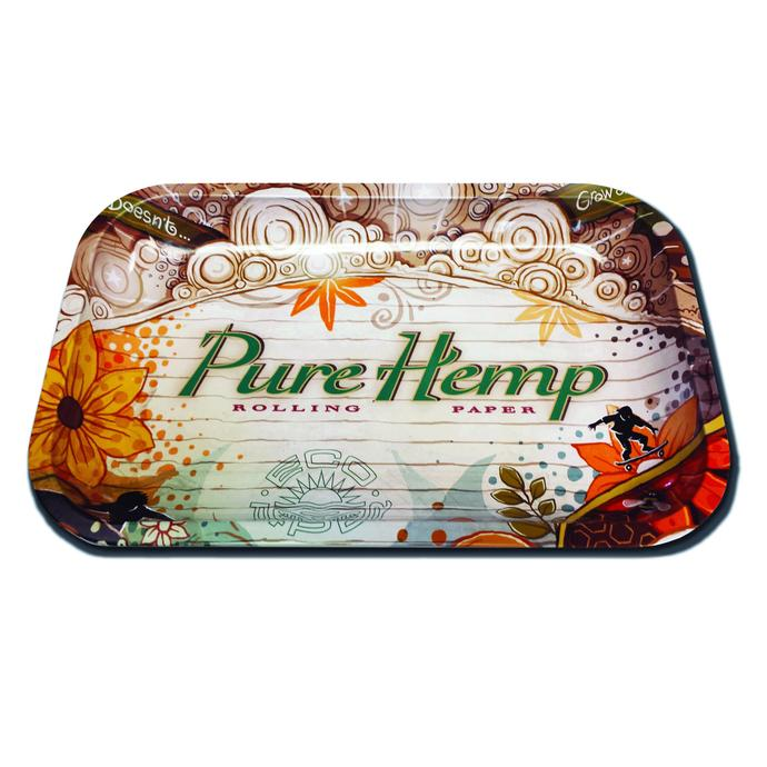 "Pure Hemp Rolling Tray 11"" x 7"" – Small"