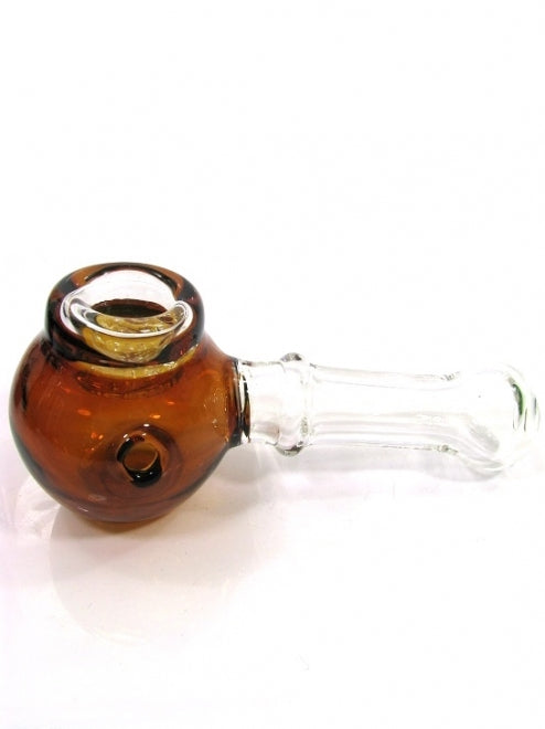 Red Eye Glass Honeywell Hand Pipe W/Honeycomb Screen Bowl