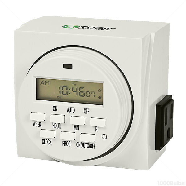 Titan Apollo 9 - 24HR Digital Timer 2 Outlet with Battery Backup