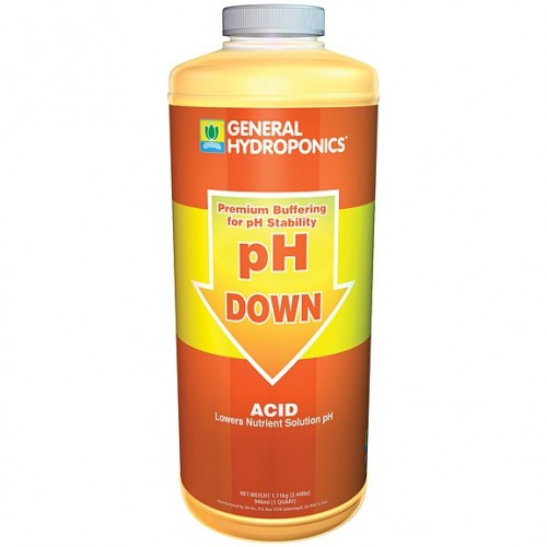 General Hydroponics - pH Down 1 Litre