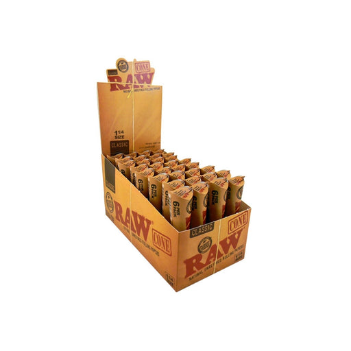 Raw Classic Unbleached Cones 1.25 6 Pack