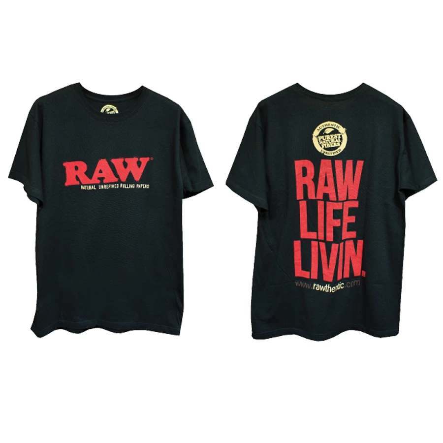 Raw 'Raw Life Livin' Men's Black Short Sleeve T-Shirt